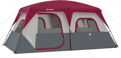 Columbia Sportswear Ashland 8 Person Tent Grey/Burgundy - Columbia Sportswear Outdoor Accessories