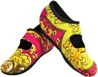 NuFoot Mary Jane Travel Slipper - Patterns L - Pink Baroque Large - NuFoot Women's Footwear 10432756