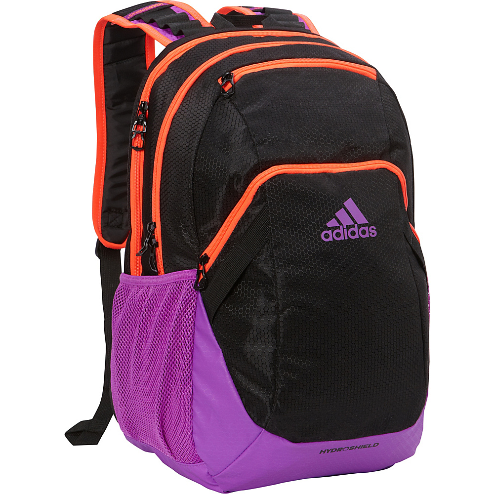 adidas Pace Backpack Black/Solar Red/Shock Purple - adidas School & Day Hiking Backpacks