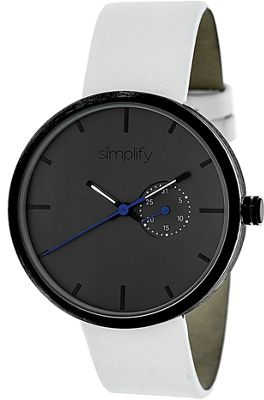 Simplify 3900 Unisex Watch White/Charcoal - Simplify Watches