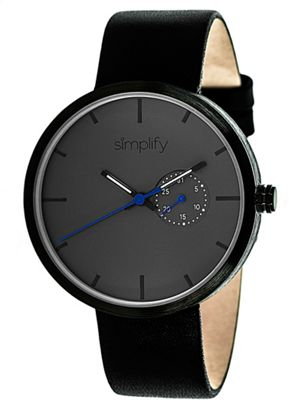 Simplify 3900 Unisex Watch Black/Charcoal - Simplify Watches