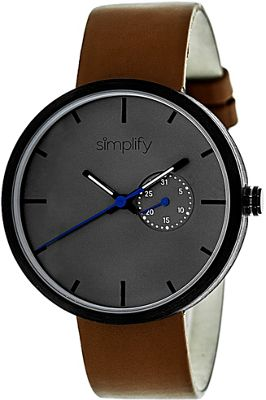 Simplify 3900 Unisex Watch Brown/Charcoal - Simplify Watches