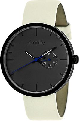 Simplify 3900 Unisex Watch Eggshell/Charcoal - Simplify Watches