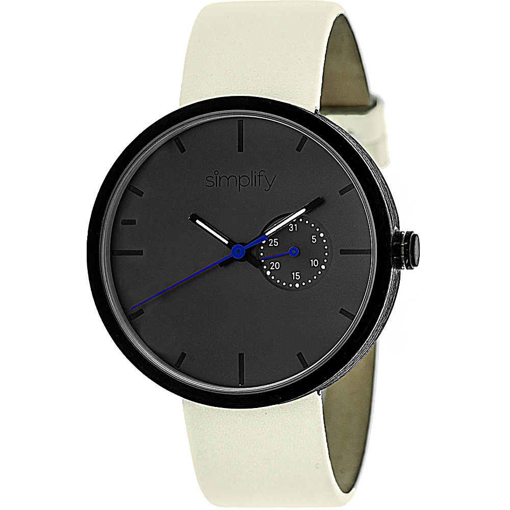 Simplify 3900 Unisex Watch Eggshell Charcoal Simplify Watches