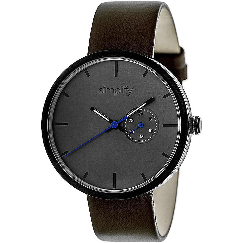 Simplify 3900 Unisex Watch Dark Brown/Charcoal - Simplify Watches