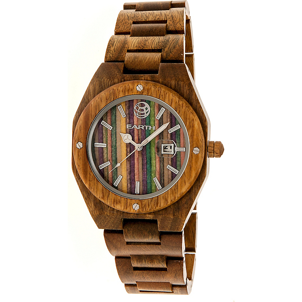 Earth Wood Cypress Skateboard Dial Wood Watch Olive Earth Wood Watches