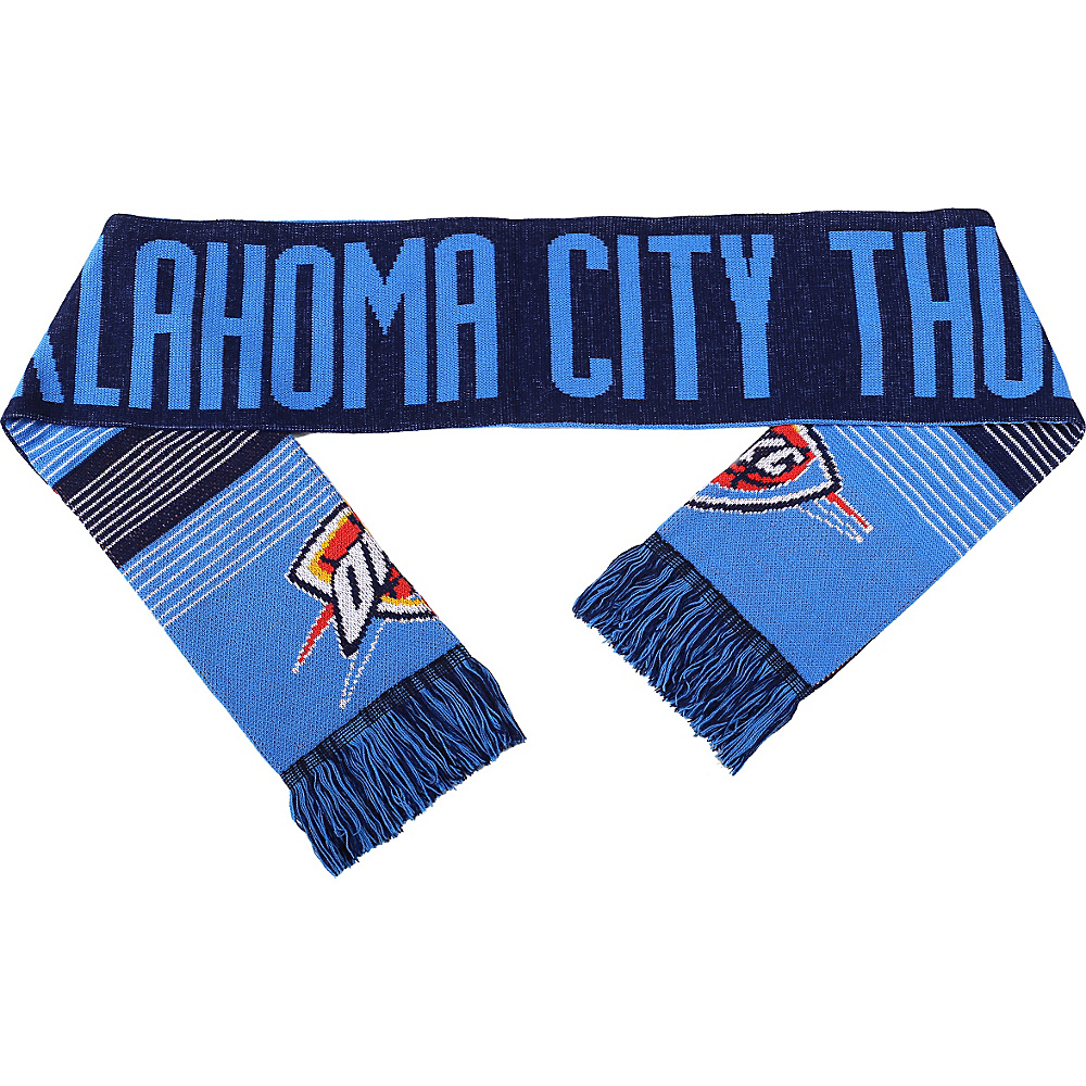 Forever Collectibles NBA Reversible Split Logo Scarf Blue Oklahoma City Thunder Forever Collectibles Hats Gloves Scarves