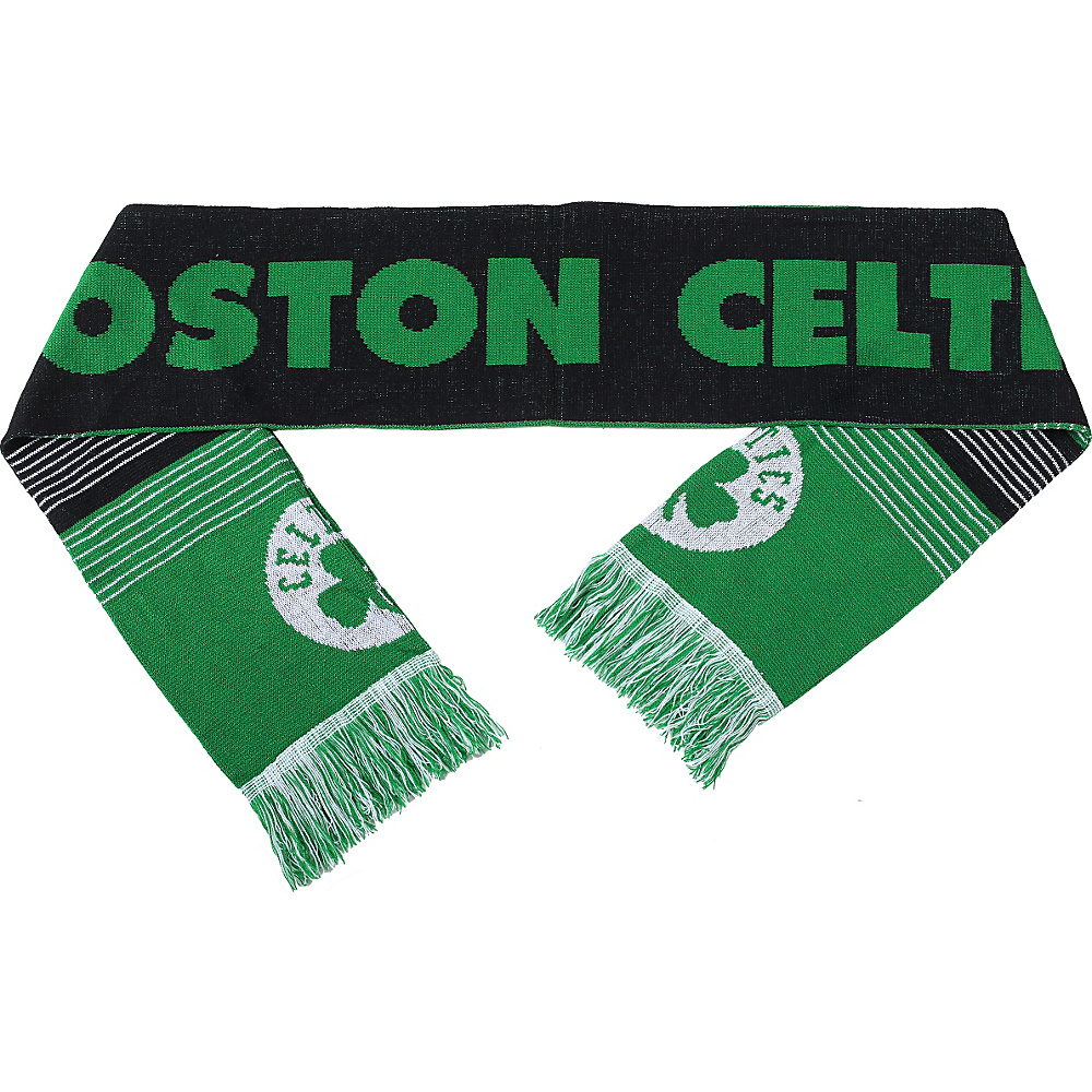 Forever Collectibles NBA Reversible Split Logo Scarf Green Boston Celtics Forever Collectibles Hats Gloves Scarves