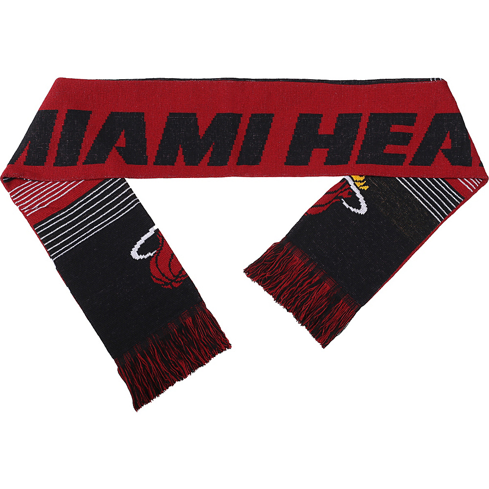 Forever Collectibles NBA Reversible Split Logo Scarf Red Miami Heat Forever Collectibles Hats Gloves Scarves