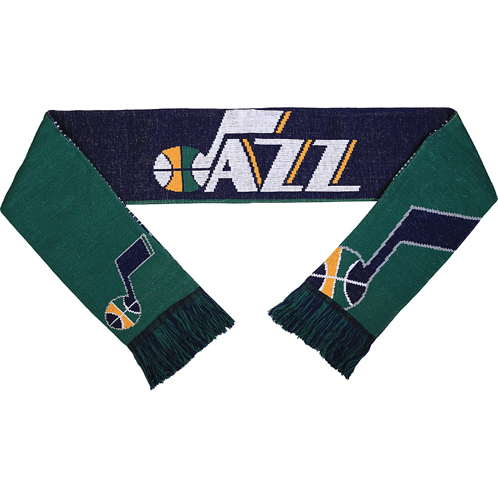 Forever Collectibles NBA Reversible Split Logo Scarf Black Utah Jazz Forever Collectibles Hats Gloves Scarves