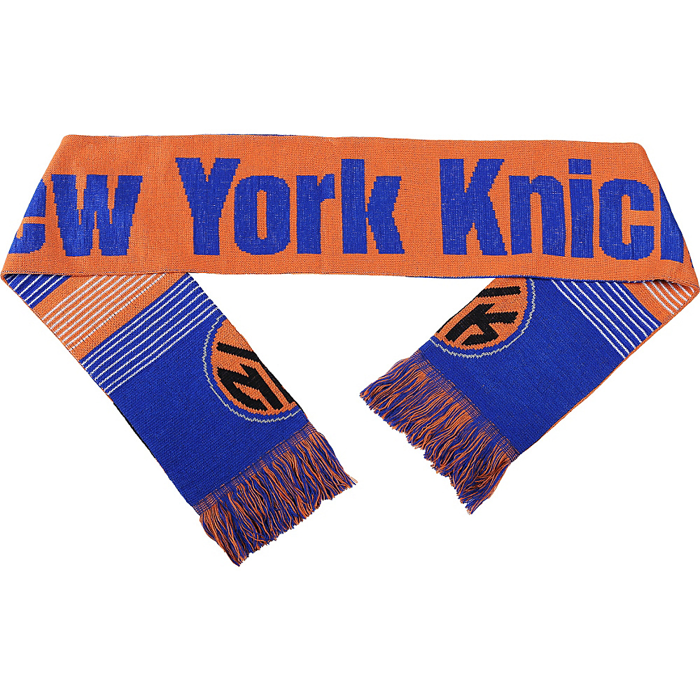 Forever Collectibles NBA Reversible Split Logo Scarf Orange New York Knicks Forever Collectibles Hats Gloves Scarves