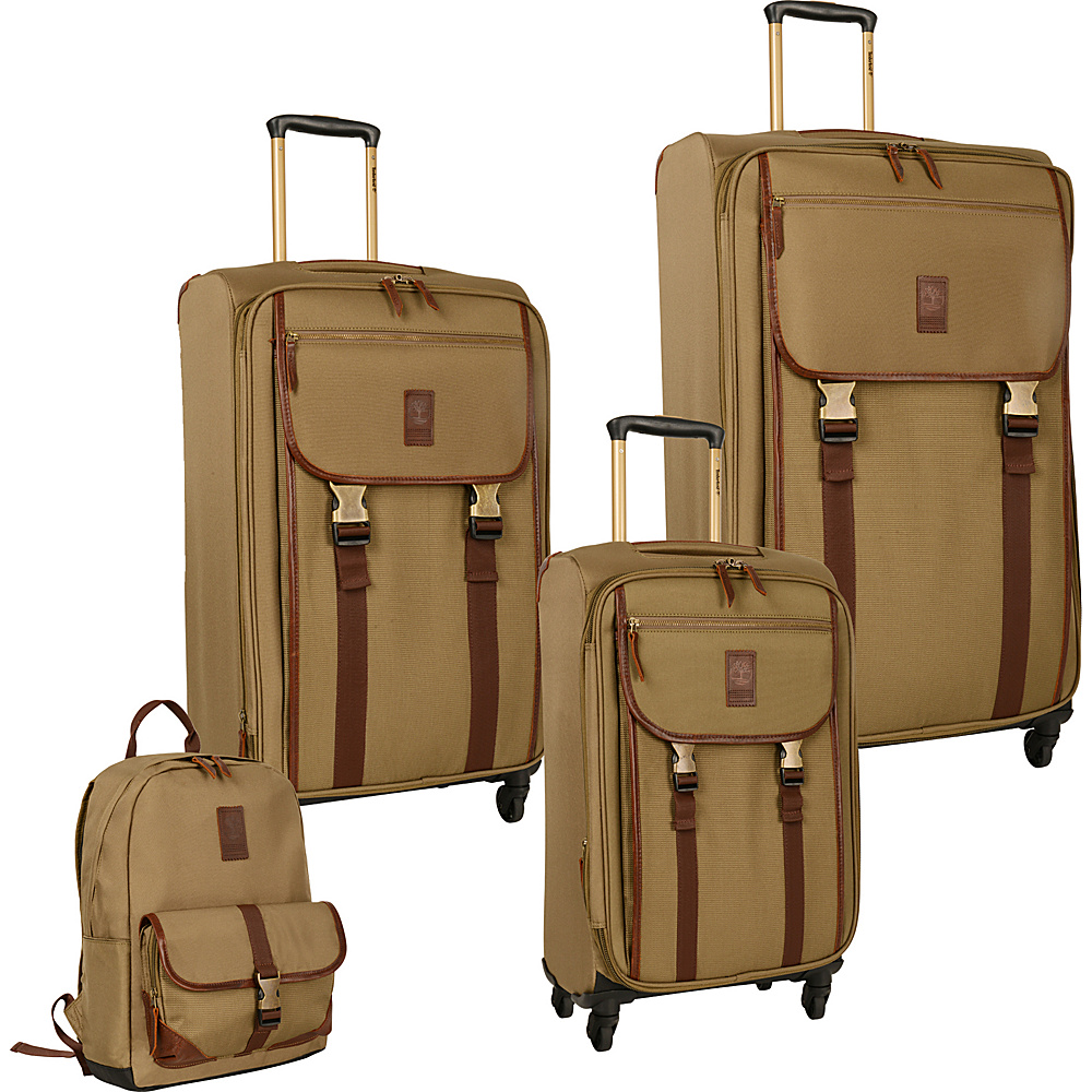 Timberland Reddington 4 Piece Set Military Olive Timberland Luggage Sets
