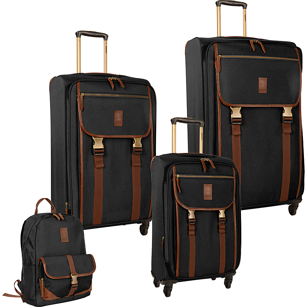 Timberland Reddington 4 Piece Set Black Timberland Luggage Sets