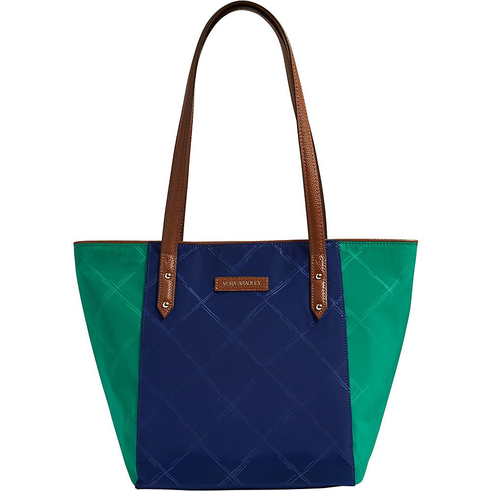 Vera Bradley Preppy Poly Small Ella Tote Evening Sky and Clover - Vera Bradley Fabric Handbags