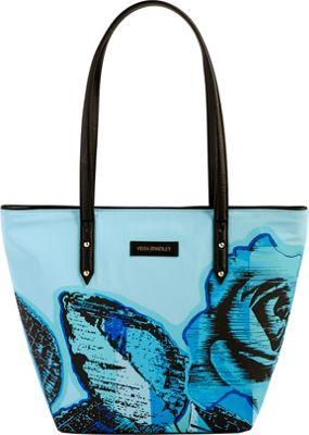 Vera Bradley Preppy Poly Small Ella Tote Blue Havana Rose - Vera Bradley Fabric Handbags