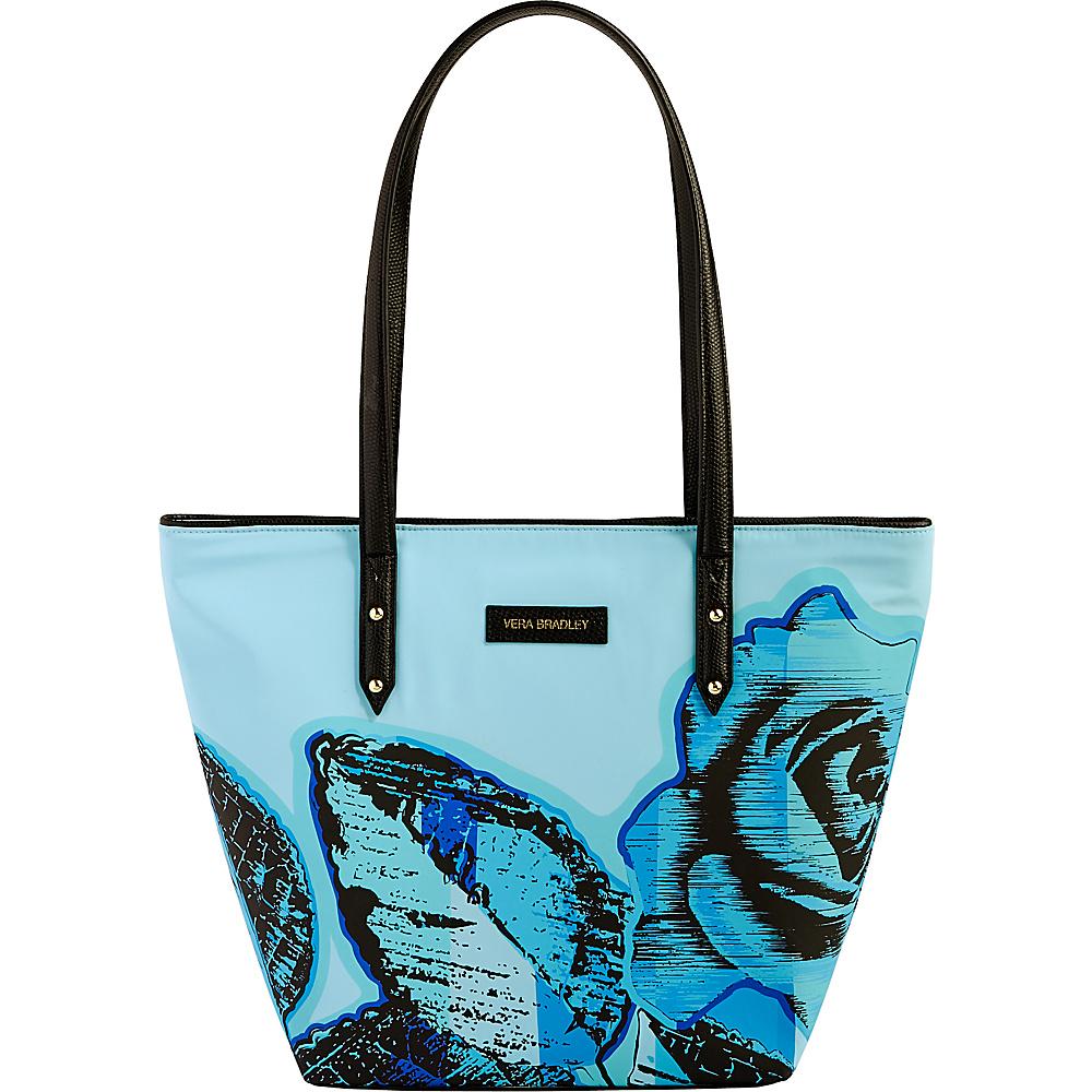Vera Bradley Preppy Poly Small Ella Tote Blue Havana Rose - Vera Bradley Fabric Handbags - Handbags, Fabric Handbags