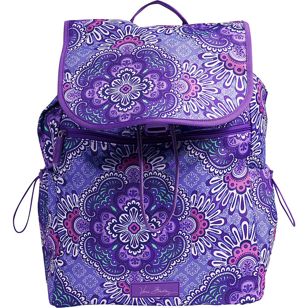 Vera Bradley Lighten Up Drawstring Backpack Lilac Tapestry Vera Bradley Fabric Handbags