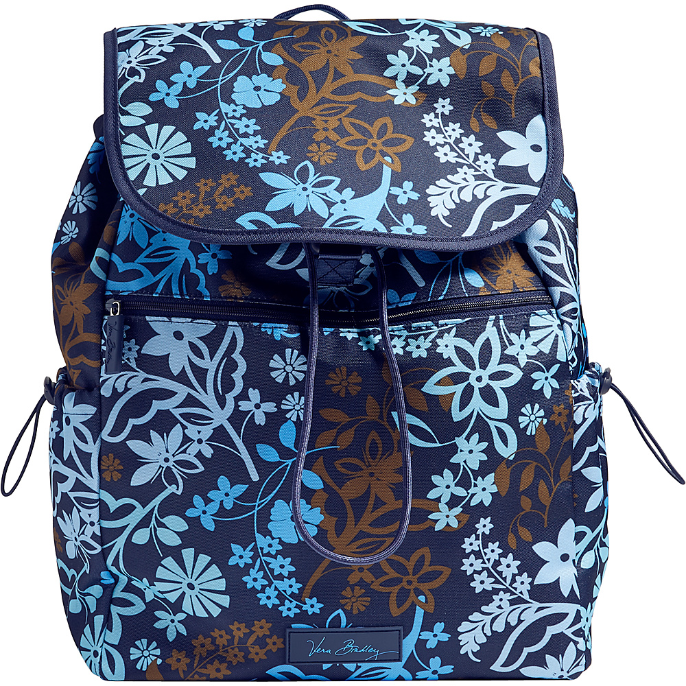 Vera Bradley Lighten Up Drawstring Backpack Java Floral Vera Bradley Fabric Handbags