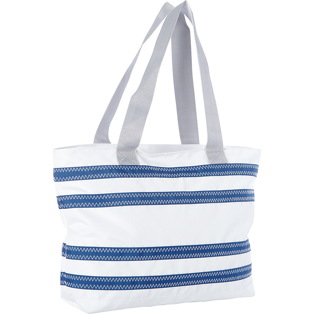 SailorBags Nautical Stripe Medium Tote White with Blue Stripes SailorBags All Purpose Totes