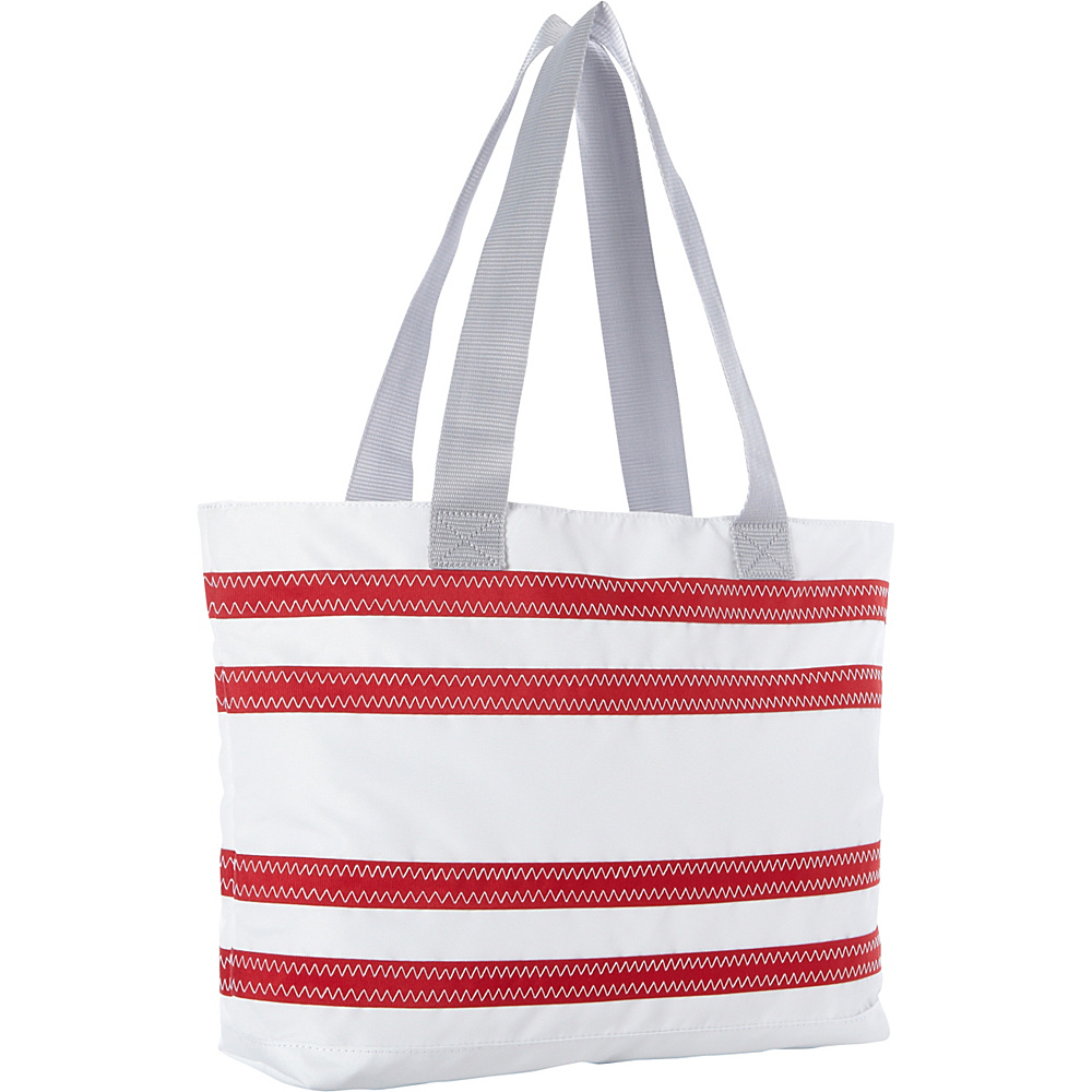 SailorBags Nautical Stripe Medium Tote White with Red Stripes SailorBags All Purpose Totes