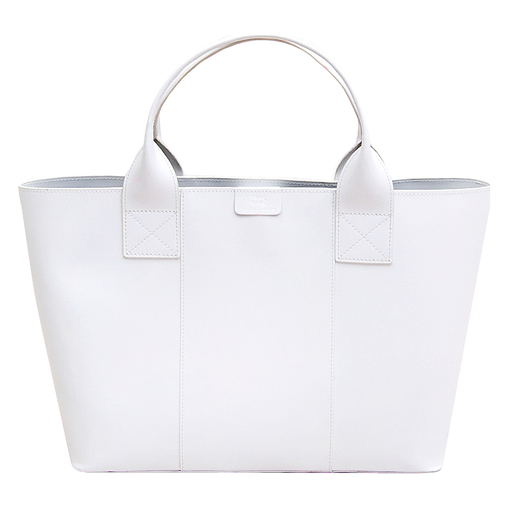 Paperthinks Shopping Tote Bag White Paperthinks Leather Handbags