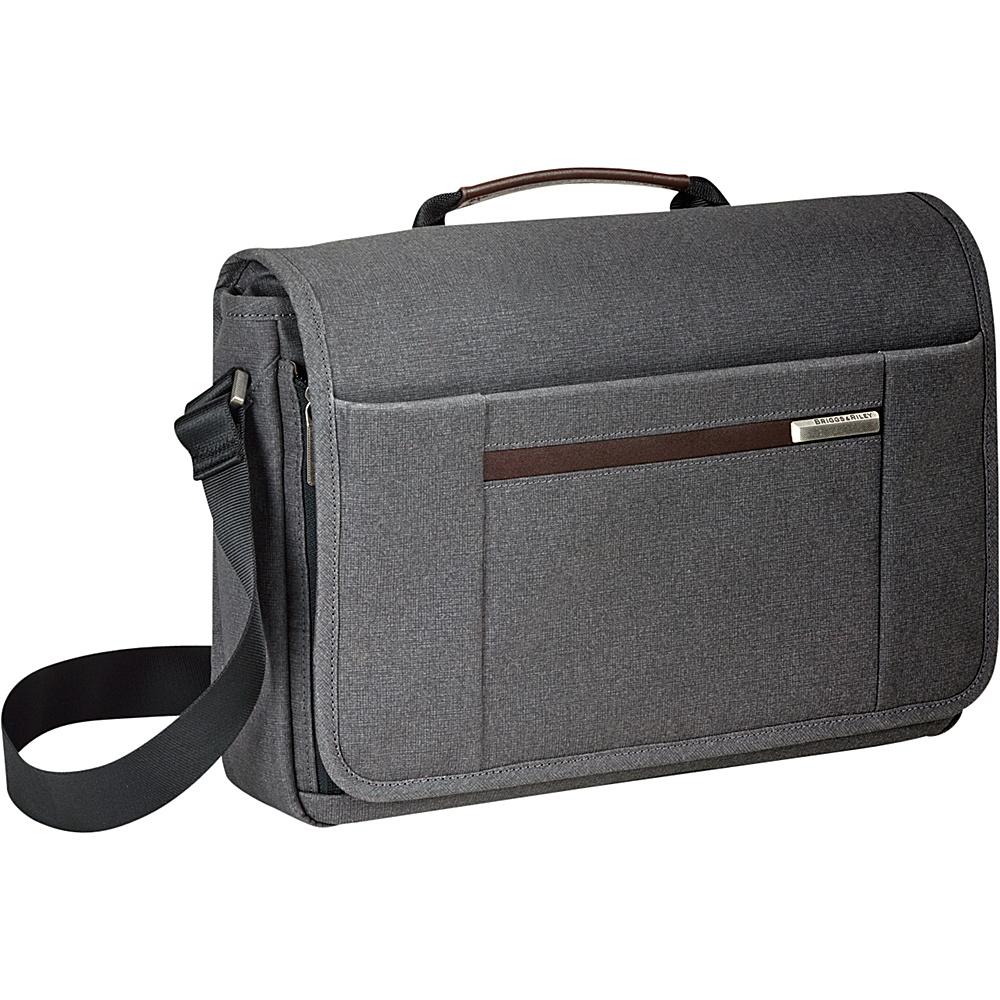 Briggs Riley Kinzie Street Micro Messenger Grey Briggs Riley Messenger Bags