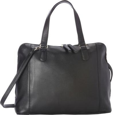 Derek Alexander Medium Satchel Shoulder Strap Tablet Friendly Black - Derek Alexander Leather Handbags