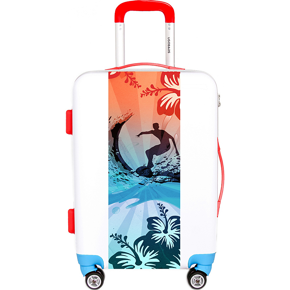 Ugo Bags Surf The Water 26.5 Luggage White Ugo Bags Hardside Checked