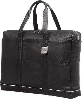 Moleskine Lineage Leather Briefcase Bag Black - Moleskine Non-Wheeled Business Cases