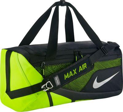 Nike Vapor Max Air Duffel Medium Black/Volt/Metallic Silver - Nike Sports Duffels