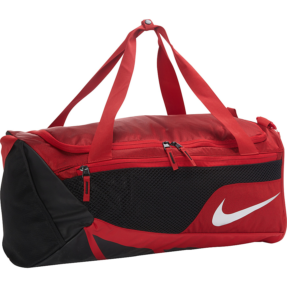 Nike Vapor Max Air Duffel Medium Gym Red Black Metallic Silver Nike Gym Duffels