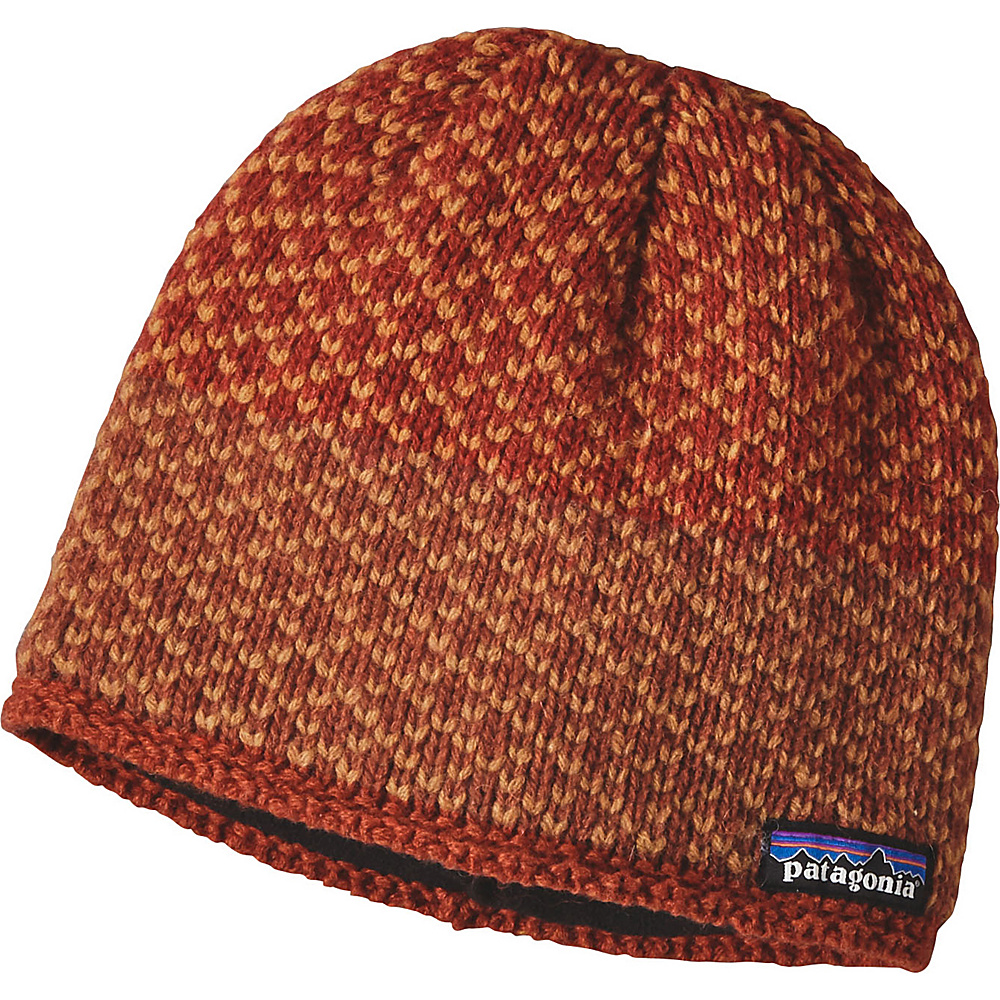Patagonia Ws Beatrice Beanie One Size - Beatrice Birds: Cinder Red - Patagonia Hats/Gloves/Scarves - Fashion Accessories, Hats/Gloves/Scarves