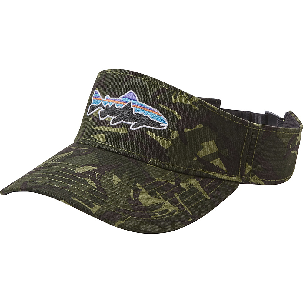 Patagonia Fitz Roy Trout Visor One Size - Big Camo: Fatigue Green - Patagonia Hats/Gloves/Scarves - Fashion Accessories, Hats/Gloves/Scarves