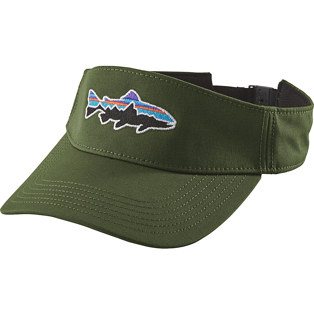 Patagonia Fitz Roy Trout Visor One Size - Buffalo Green - Patagonia Hats/Gloves/Scarves - Fashion Accessories, Hats/Gloves/Scarves