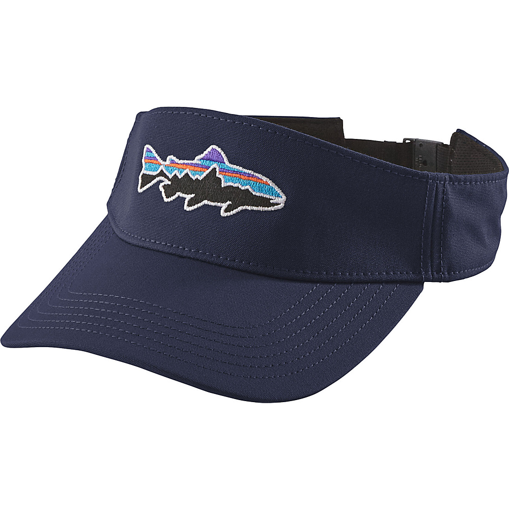 Patagonia Fitz Roy Trout Visor One Size - Navy Blue - Patagonia Hats/Gloves/Scarves - Fashion Accessories, Hats/Gloves/Scarves
