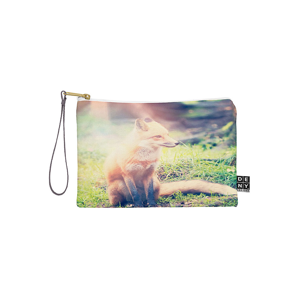 DENY Designs Maybe Sparrow Photography Pouch Grass Sunny Fox DENY Designs Travel Wallets