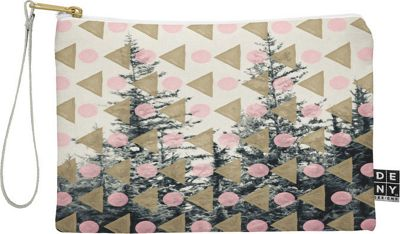 Deny Designs Maybe Sparrow Photography Pouch Baby Pink - Through the Geometric Trees - Deny Designs Travel Wallets