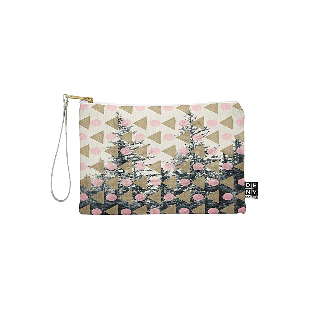 DENY Designs Maybe Sparrow Photography Pouch Baby Pink Through the Geometric Trees DENY Designs Travel Wallets