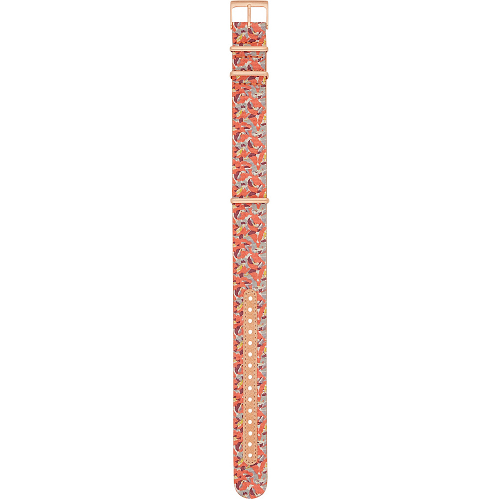Fossil 18mm Leather and Canvas Watch Strap Pink - Fossil Watches - Fashion Accessories, Watches