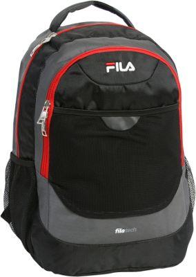 Fila Colton Tablet and Laptop School Backpack Black/Red - Fila Everyday Backpacks