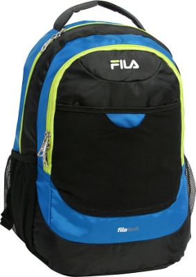 Fila Colton Tablet and Laptop School Backpack Blue/Neon - Fila Everyday Backpacks