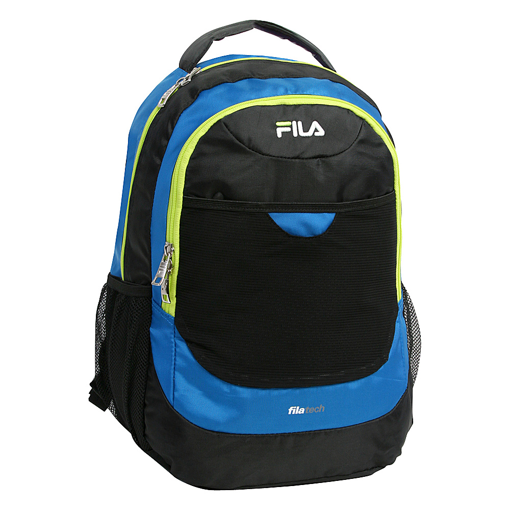 Fila Colton Tablet and Laptop School Backpack Blue Neon Fila Everyday Backpacks