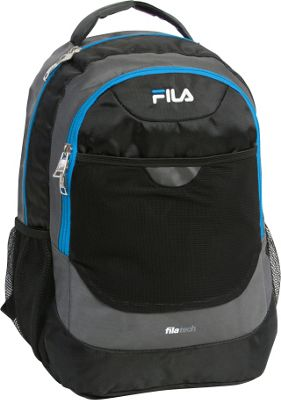 Fila Colton Tablet and Laptop School Backpack Grey/Blue - Fila Everyday Backpacks