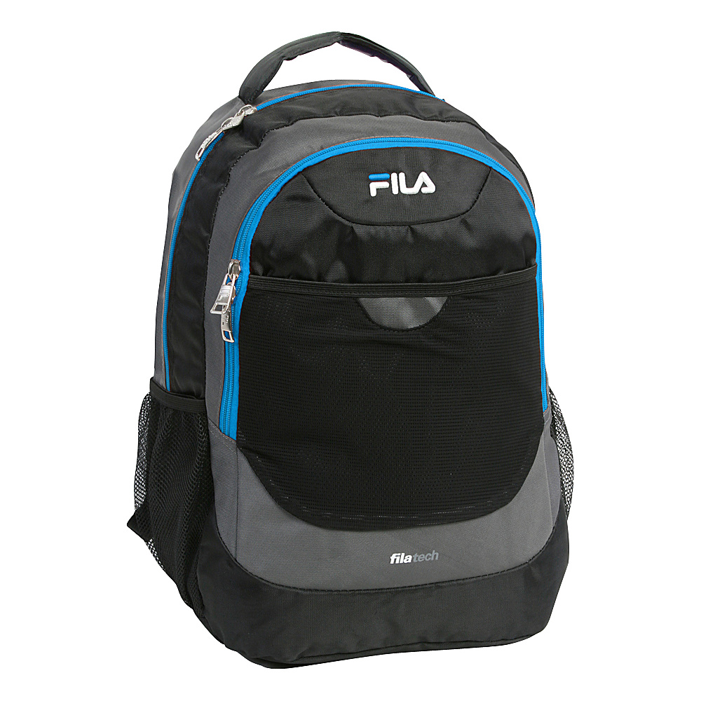 Fila Colton Tablet and Laptop School Backpack Grey Blue Fila Everyday Backpacks