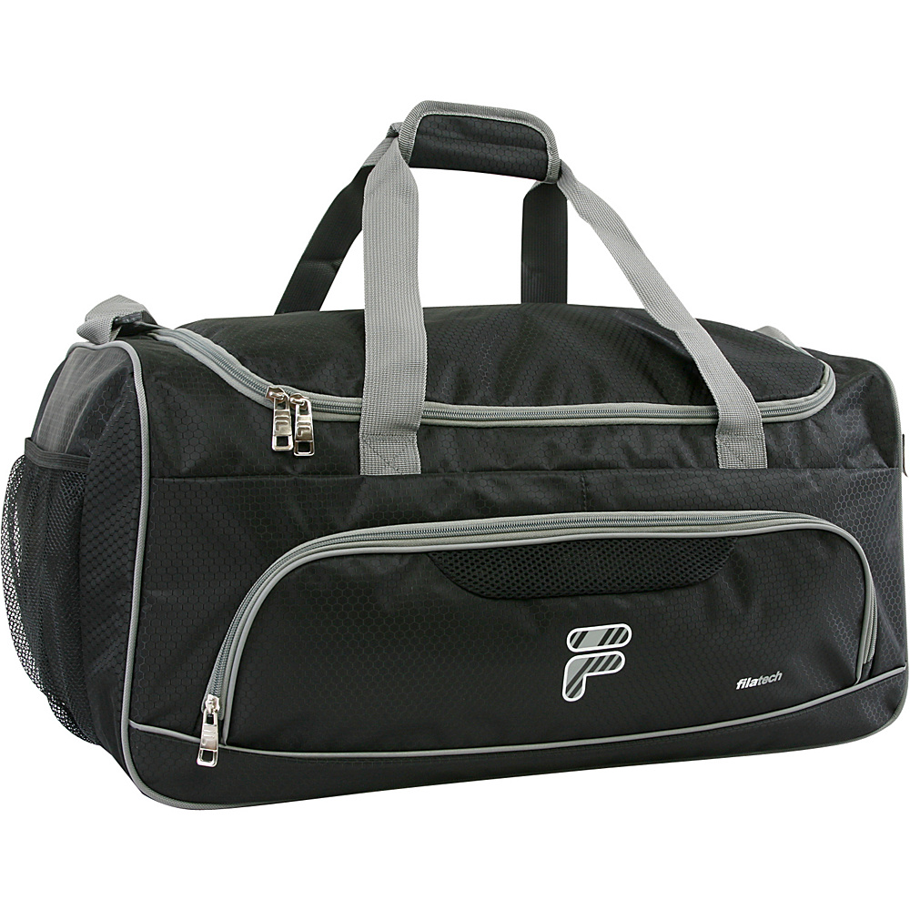 Fila Victory Medium Sport Duffel Bag Black Grey Fila Gym Duffels