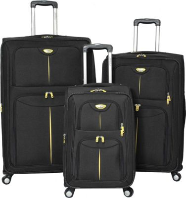 American Green Travel American Green Travel Icon Series 3-Piece Set Black - American Green Travel Luggage Sets