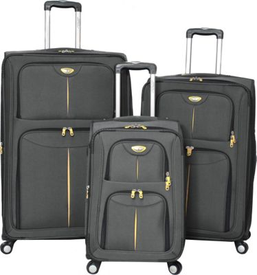 American Green Travel Icon Series 3-Piece Set Grey - American Green Travel Luggage Sets