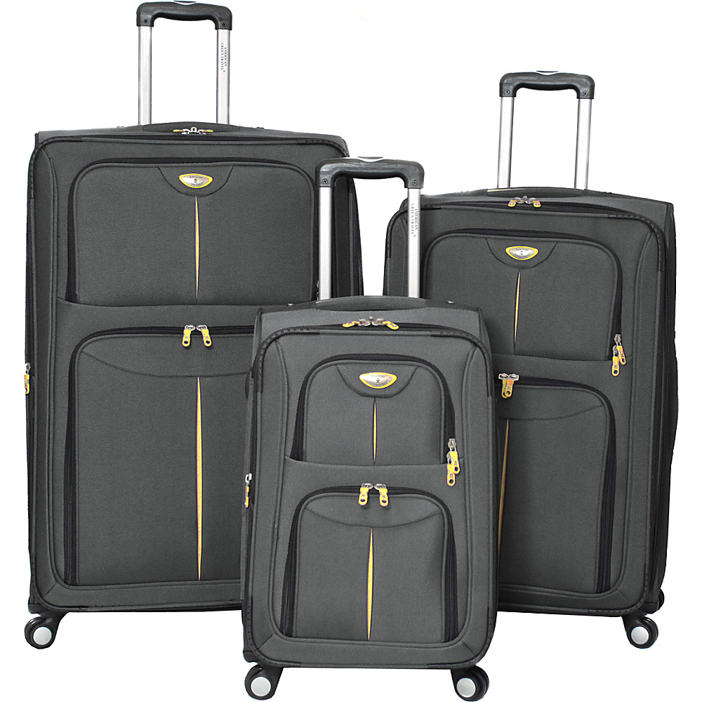american green travel icon series 3 piece set 3 colors. Black Bedroom Furniture Sets. Home Design Ideas