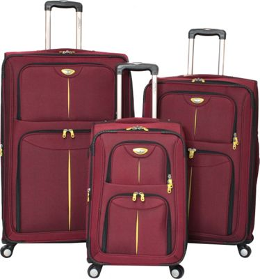 American Green Travel Icon Series 3-Piece Set Burgundy - American Green Travel Luggage Sets