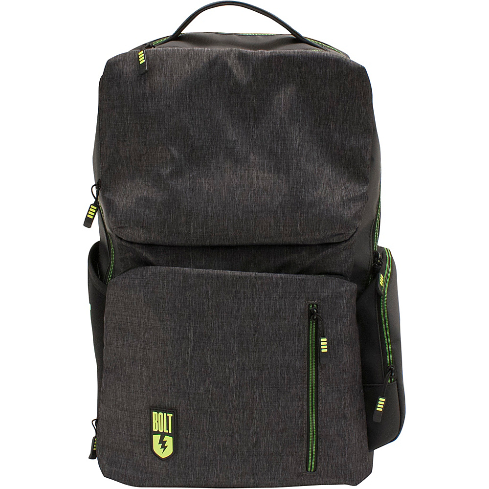 M Edge Bolt by M Edge Backpack with Battery Heathered Grey M Edge Business Laptop Backpacks